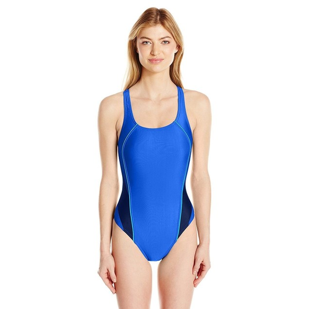 Speedo Women's Pro Lt Drop Back One Piece Swimsuit, Radiant Blue, Size 6/32