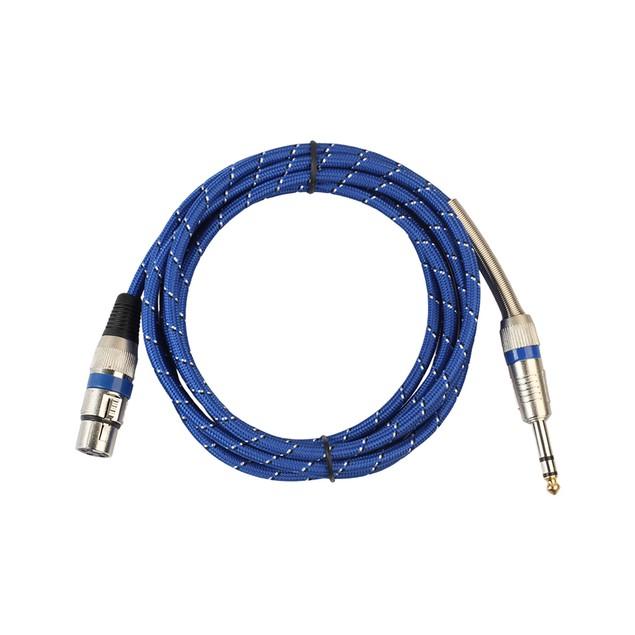 6ft XLR 3-Pin to 1/4 Inch Mono Plug Shielded Microphone Audio Cord