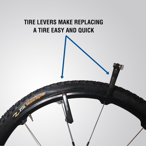 Zol Aluminum Tire Lever with Rim Protector