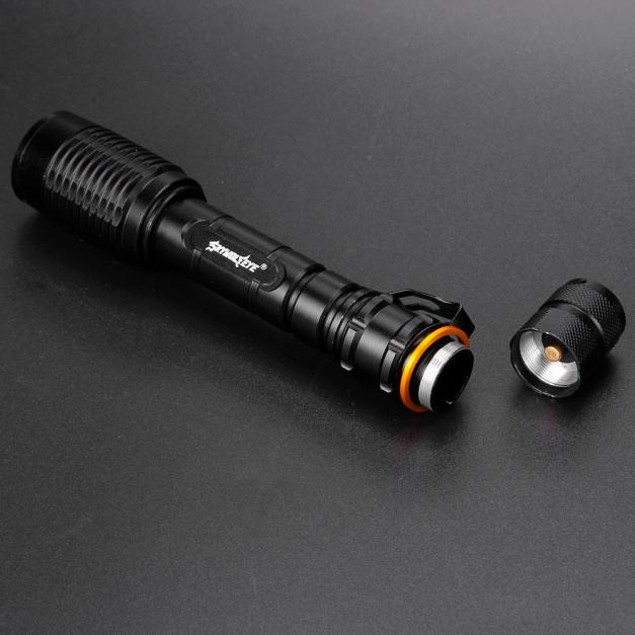 Zoomable 4000LM 18650 CREE XML T6 LED Zoomable Bronze Flashlight Torch Lamp