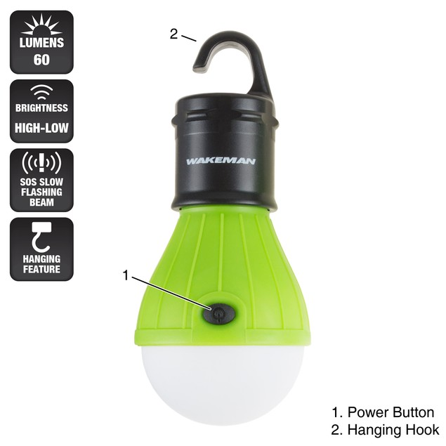 2 Pack Portable LED Light Bulb