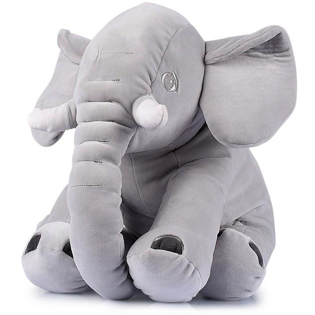 """Giant 24"""" Stuffed Elephant - Cute Soft Plush Cuddly Fluffy -Great Gift Idea"""