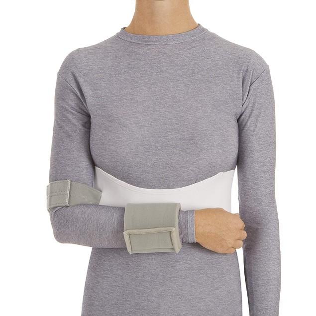 Procare Elastic Shoulder Immobilizer w/ Elastic Waist Band, Small, Gray