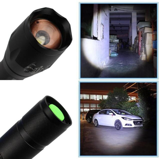 Tactical XM-L T6 Zoomable LED Flashlight Rechargeable Adjustable Torch Lamp