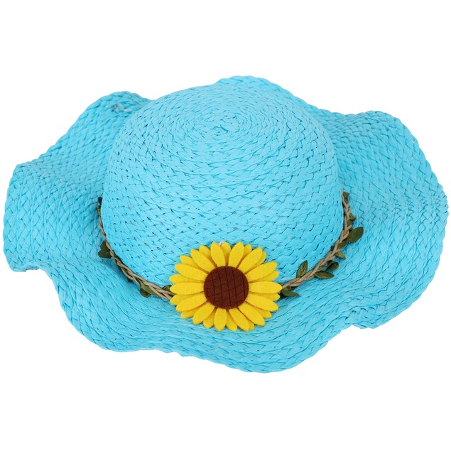 SimpliKids Girls' Summer Straw Sun Hat