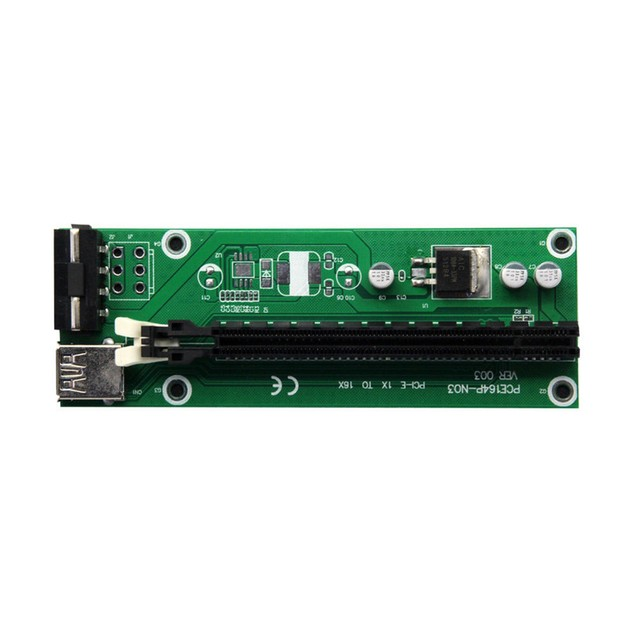 Extender Riser Card Adapter SATA Power Cable