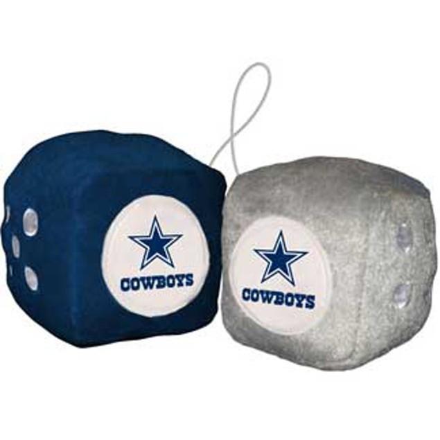 Dallas Cowboys Fuzzy Dice NFL Football Team Logo Plush Car Truck Auto