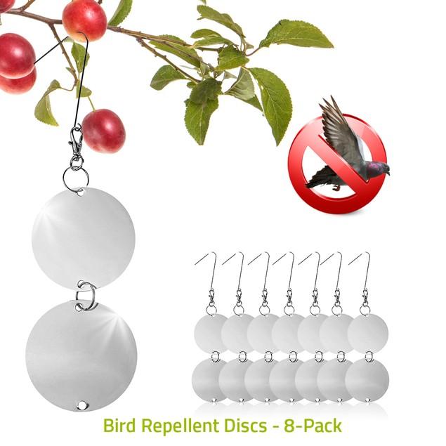 16-Pack of Bird Repellent Hanging Disks–Attractive Dual-sided Deterrent