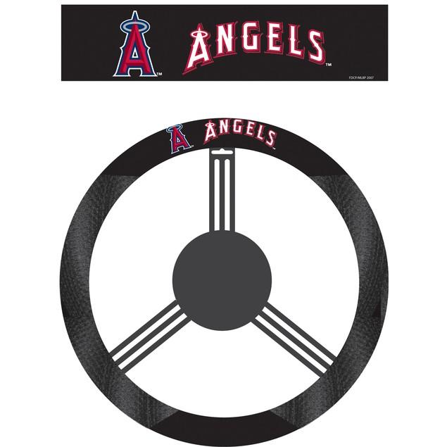 Los Angeles Angels Steering Wheel Cover MLB Baseball Team Logo Poly Mesh