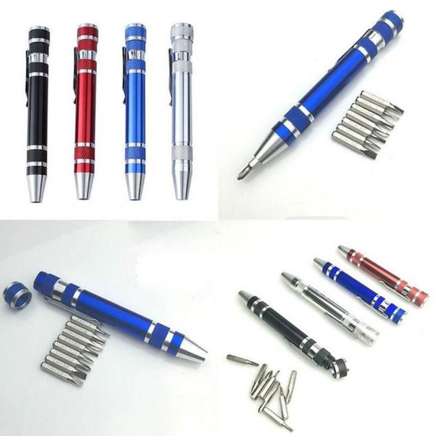 8 In 1 Pocket Precision Screwdriver Bit Set Repair Tool