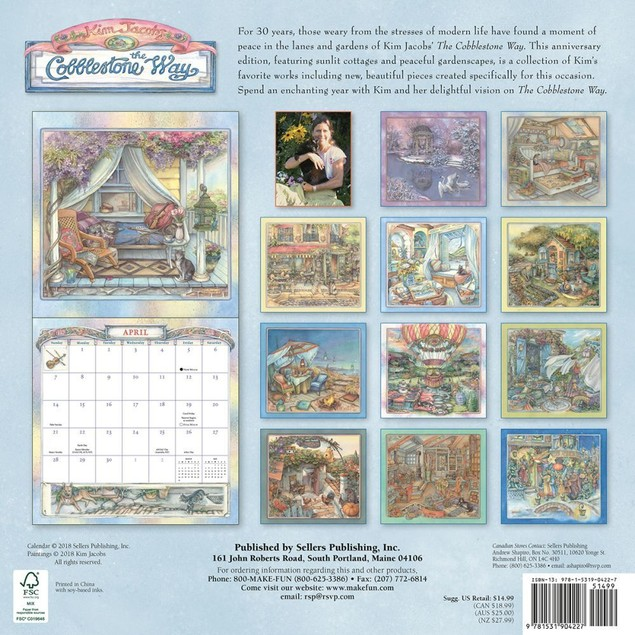 The Cobblestone Way Wall Calendar, More Folk Art by Calendars