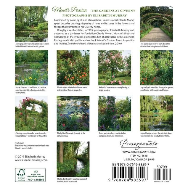 Monets Passion Mini Wall Calendar, Gardens by Calendars