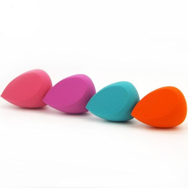 1pc Pro Makeup Foundation Beauty   Miter Droplets Sponge Puff