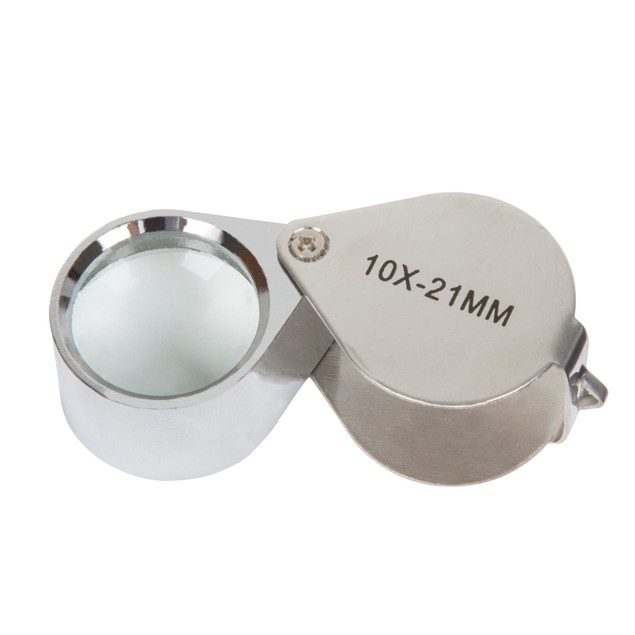 Stalwart 10x Jewelers Eye Loupe Magnifier with Case