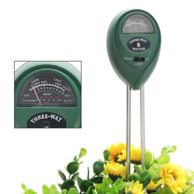 3 in 1 Analyzer Plant Flowers Soil PH Moisture Light Meter Tester