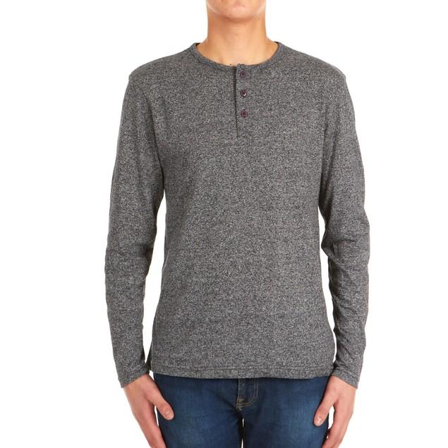 4-Pack Men's Long-Sleeve Marled Henley Shirt