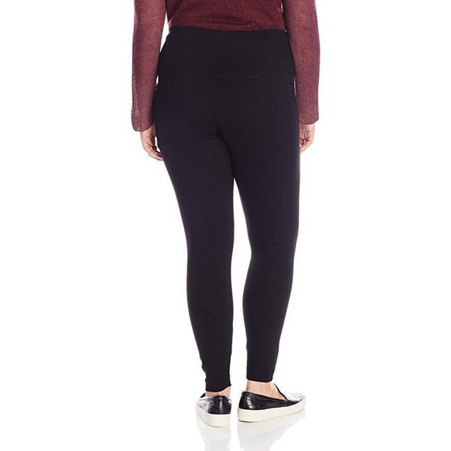 Lysse Women's Plus-Size Center Seam Ponte, Black, 1X
