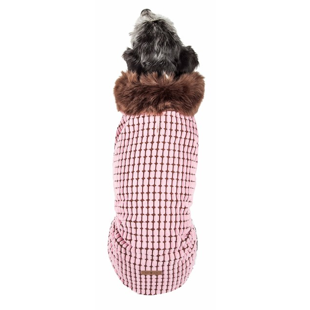 Pet Life Luxe 'Beautifur' Elegant Boxed Mink Fur Dog Coat Jacket