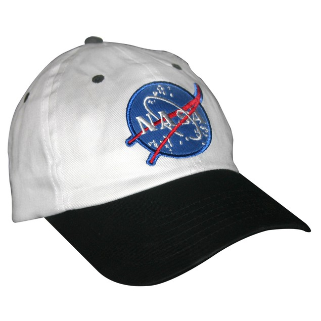 White And Black NASA Child Hat