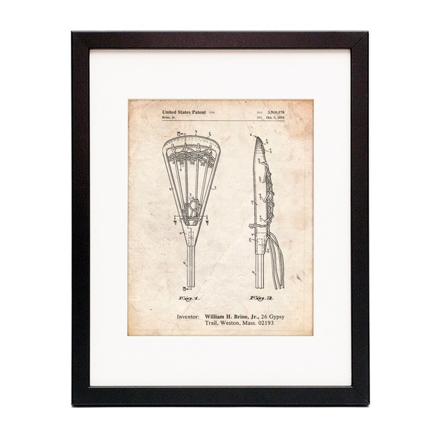 Lacrosse Stick 1936 Patent Poster