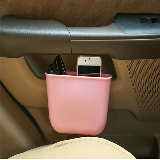 Garbage Catcher Storage Organizer Box Car Seat Slit Pocket @1