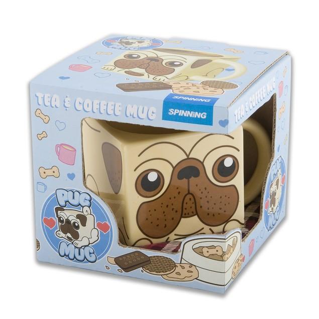 Pug Mug Square Ceramic Cup 12 oz. Dog Animal Pet Cute Coffee Tea Novelty