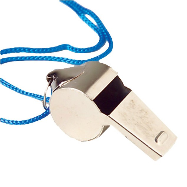 Metal Whistle With String