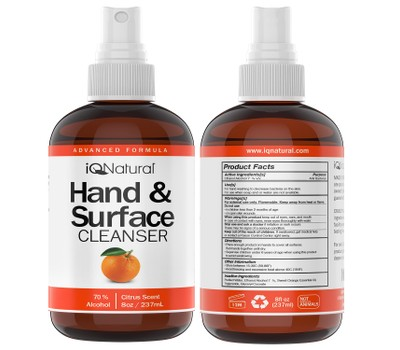 Hand and Surface Cleaner Spray - Citrus Scent - 8oz Bottle Was: $69.99 Now: $10.99.