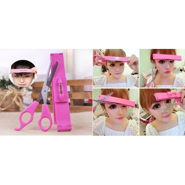 Hair Bang Trimmer Tool with Scissors
