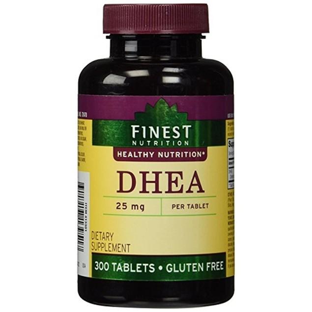 Finest Nutrition DHEA 25mg 300 Tablets Bottle