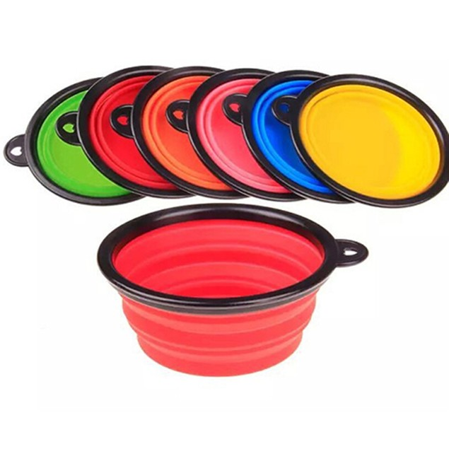 Silicone Dog Bowl Collapsible Premium Quality Food Water Bowl