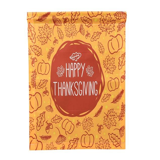 Happy Thanksgiving Garden Flags House Decor Mini Yard Banner 12'' x 18''
