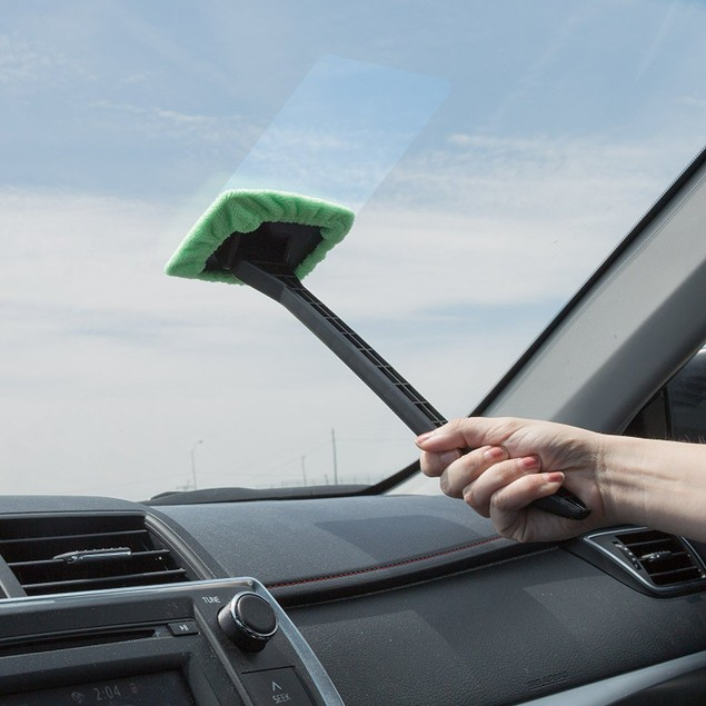 2-Pack Windshield Cleaner Wiper with Microfiber Cloth