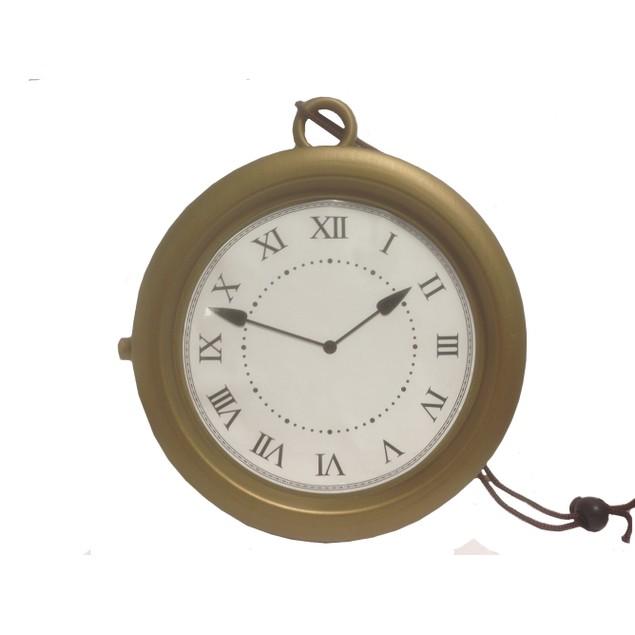 """Gold Clock Necklace Flavor Flav 8"""" Jumbo Rapper Hip Hop Alice In Wonderland"""