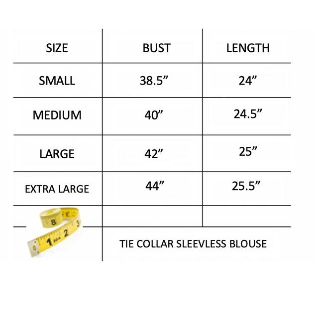 Tie Collar Sleeveless Blouse