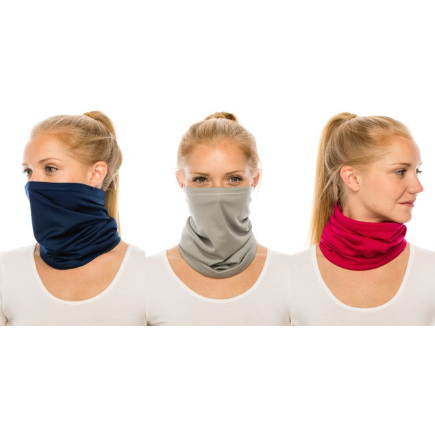 3-Pack Assorted Neck Gaiter Multi-Functional Face Covers