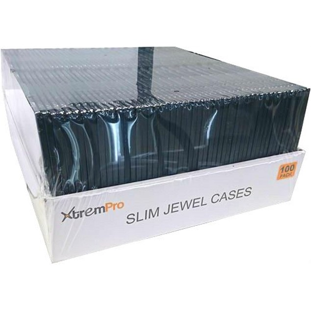 Slim CD DVD Jewel storage Replacement Case 0.2 in 100 Pack