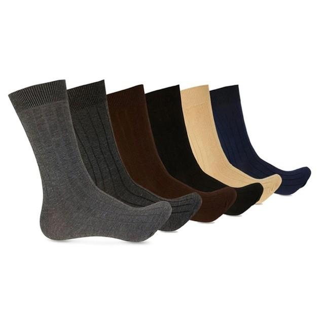 12 Pack Alberto Cardinali Men's Dress Socks – Variety Pack Of Solid Colors