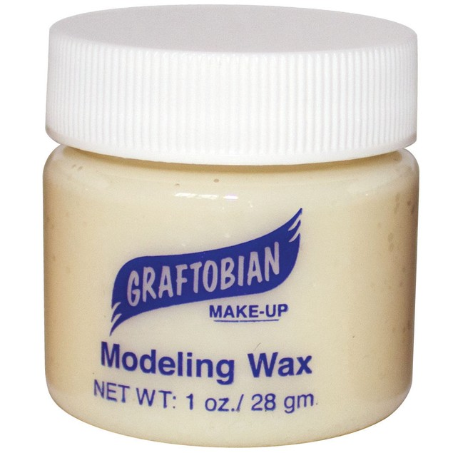 Bone Colored - Modeling Wax 1oz. Graftobian Cruelty Free USA Professional