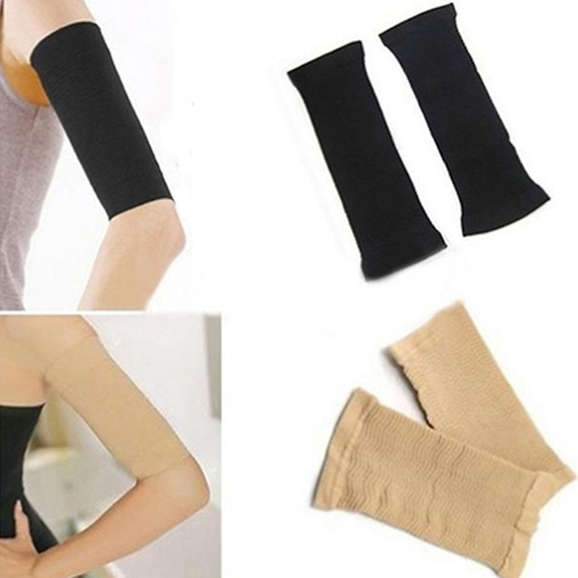 Fat Burning Upper Arm Shapers Slimmers Wrap Belts Arm Sleeves