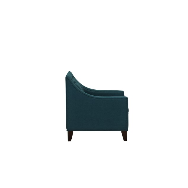 Chic Home Aurora Linen Tufted Back Rest Modern Contemporary Club Chair