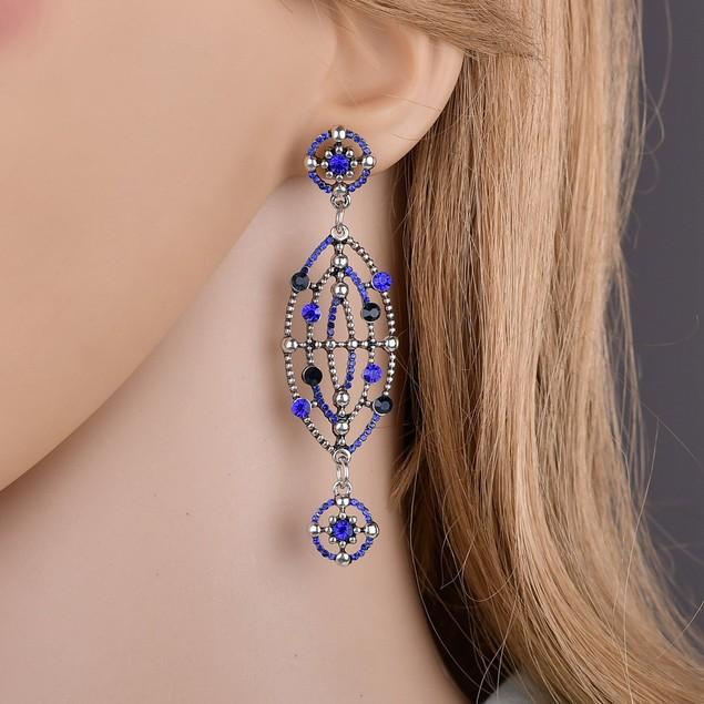 Rhinestone hollow dangle Earrings