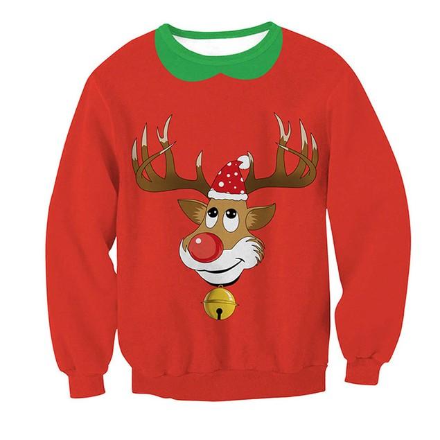 Women Long Sleeve Pullover Sweatshirt Christmas Print T-Shirt Tops