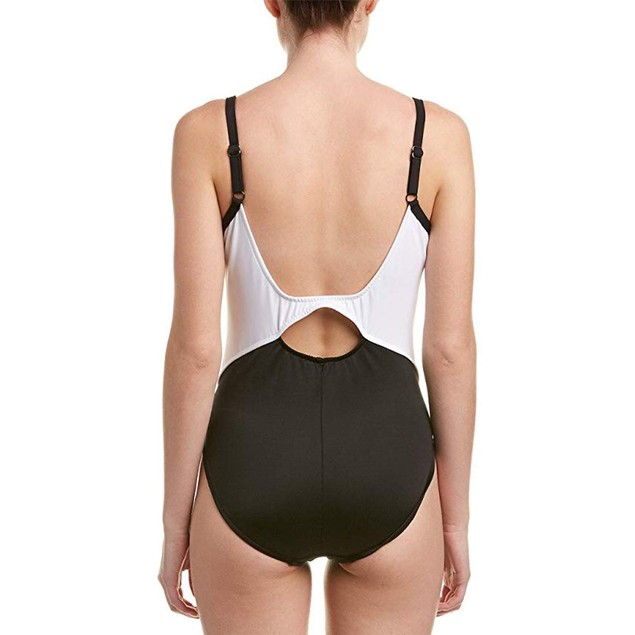 Robin Piccone Women's Lina Bandeau Bikini top Swimsuit, Black, M