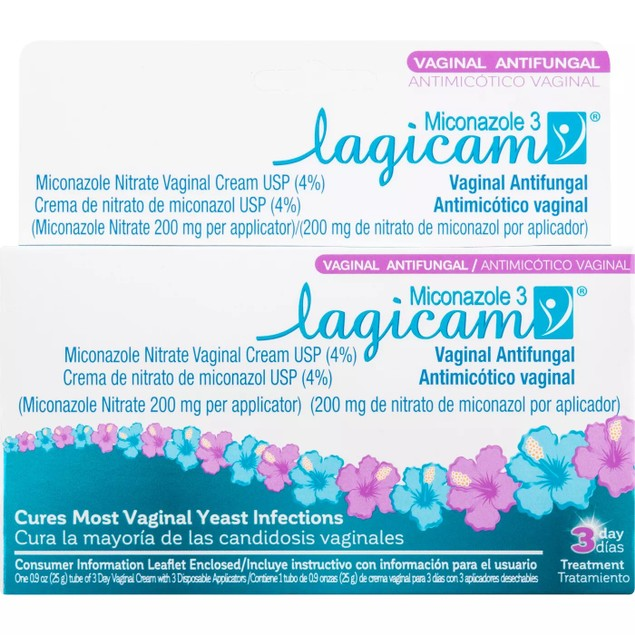 Lagicam 3-Day Yeast Infection Treatment, Eliminates the Fungi, 0.9 Oz