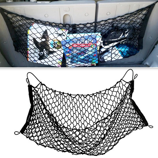 Zone Tech New Mesh Vehicle Car Organizer Sturdy Black Trunk Cargo Net