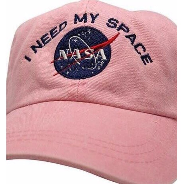 I Need My Space Pink NASA Baseball Cap Unstructured Adjustable Dad Hat Gift