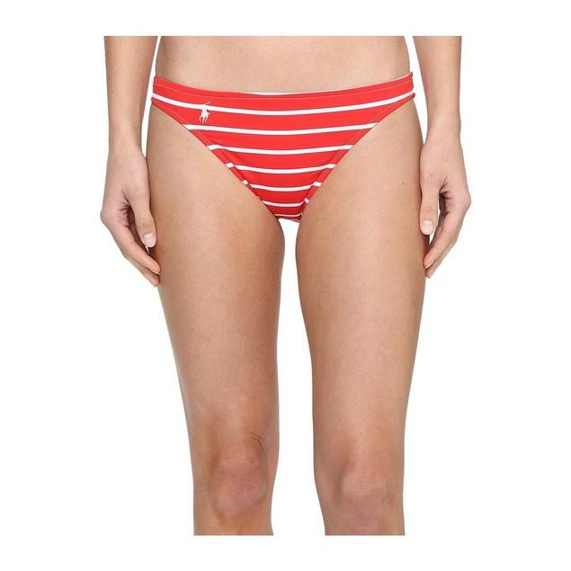 Wmns Polo Ralph Lauren Striped Hipster Bikini Bottom Red SZ: L