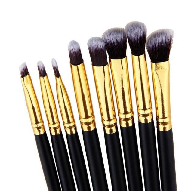 8pcs Pro Eye Brush Set Blending Shadow Eyeliner Smoked Bloom Tools 192