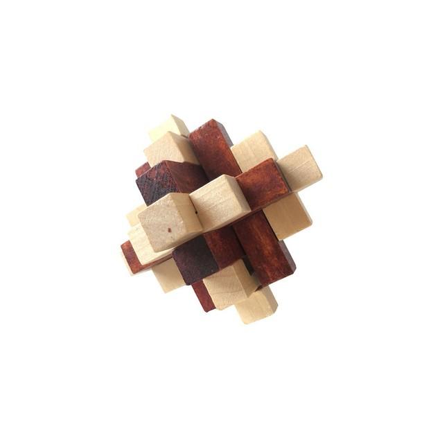 4-Pack Zummy Brain Teasar 3D Wooden  Puzzle Pack